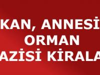BAKAN, ANNESİNE ORMAN ARAZİSİ KİRALADI